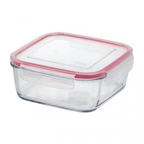 Квадратный стеклянный контейнер EMSA CLIP&CLOSE 0,4 л. (EM508103)