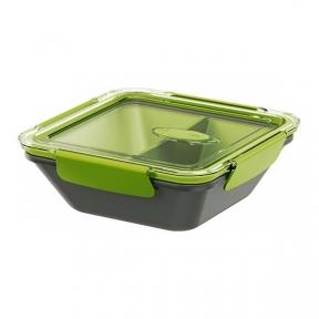 Ланчбокс квадратний Emsa Bento Box квадратний 0.9 л Сіро-зелений (EM513952)