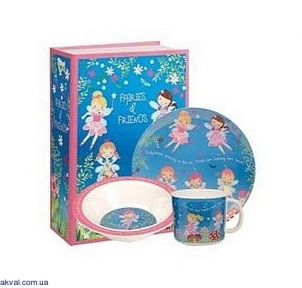 Набор детский Churchill Little Rhymes Fairies And Friends 3 предмета (FANF00051)