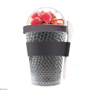 Термоконтейнер для йогурта и десертов Asobu Chill Yo 2 Go 380 мл с ложкой (CY2GO SMOKE)