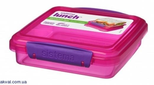 Ланч-бокс для сендвічів SISTEMA LUNCH 0,450 л (31646-4 pink)