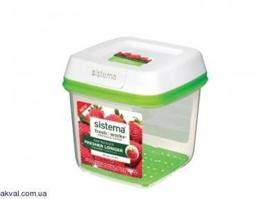 Контейнер для хранения овощей/фруктов/ягод SISTEMA FRESHWORKS 1.5 л(53110)