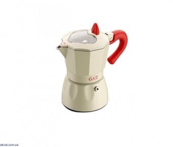 Гейзерная кофеварка GAT ROSSANA на 6 чашек (103106) молочная