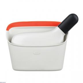 Набор OXO щетка с контейнером 4х19х14 см (1334280)