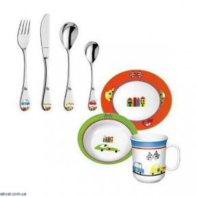 Набор столовых приборов (детский) Amefa Ralley 7 предметов (F432095CS1RCH7)