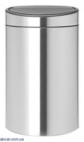 Ведро для мусора Brabantia Touch Bin 40 л Matt Steel (114809)