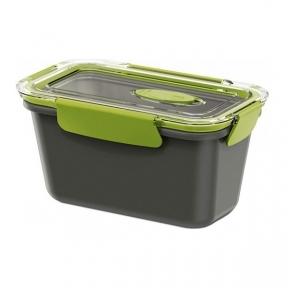 Ланчбокс прямокутний Emsa Bento Box 0.9 л Сіро-зелений (EM513951)