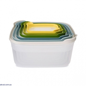 Набір квадратних харчових контейнерів JOSEPH JOSEPH Nest 6 шт (81035)