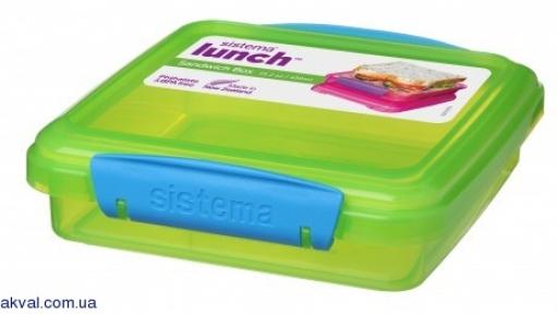 Ланч-бокс для сэндвичей SISTEMA LUNCH 0,450 л (31646-2 green)