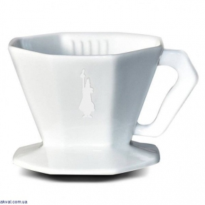 Пуровер керамічний Bialetti POUR OVER CERAMIC на 2 чашки, білий (0006366)