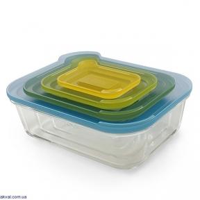 Набір контейнерів прямокутних JOSEPH JOSEPH Cookware 4 предмета Мультиколор (81060)