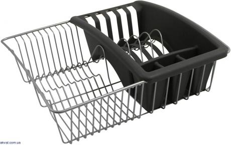 Сушилка METALTEX для посуды с лотком для столовых приборов (325025)
