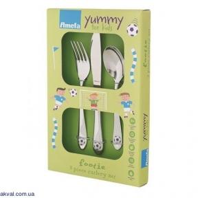 Набір дитячих столових приборів Amefa Footie 3 предмета (F842200G020A30)