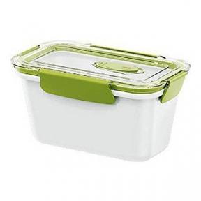 Ланчбокс прямокутний Emsa Bento Box 0.9 л Біло-зелений (EM513959)