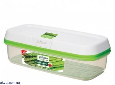 Контейнер для зберігання овочів/фруктів / ягід SISTEMA FRESHWORKS 1.9 л(53115)
