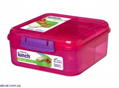 Ланч-бокс SISTEMA LUNCH 1,25 л (41685-4 pink)