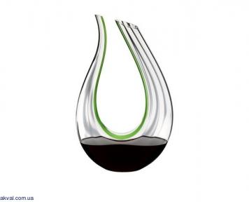 Декантер Riedel AMADEO GREEN OPTICAL 1,5 л, прозорий із зеленою смужкою (1756/19)