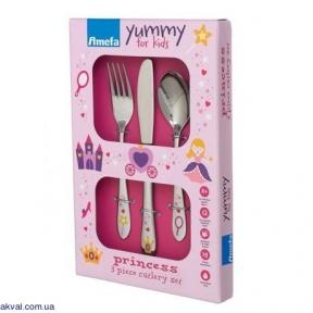 Набір дитячих столових приборів Amefa Princess 3 предмета (F842200G022A30)