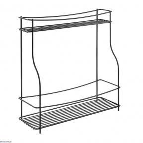 Полка METALTEX кухонная 2 секции BALSAMICO LAVA (360852)