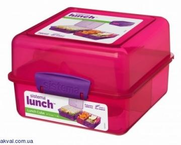 Ланч-бокс SISTEMA LUNCH 1,4 л (31735-4 pink)