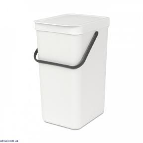 Ведро для мусора Brabantia Sort&Go 16 л White (109942)