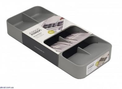 Органайзер для столовых приборов Joseph Joseph DrawerStore Large, 39,4x5,5x17,6 см, серый (85152)