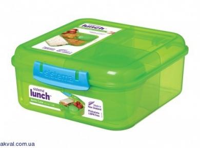Ланч-бокс SISTEMA LUNCH 1,25 л (41685-2 green)