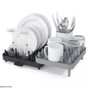 Регулируемая сушилка для посуды JOSEPH JOSEPH Connect Серая (85035)