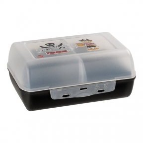 Пищевой контейнер прямоугольный Emsa Variabolo Пират с перегородкой Черный (EM513793)