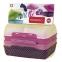 Набор прямоугольных контейнеров Emsa Variabolo girls 4 предмета (EM517052)